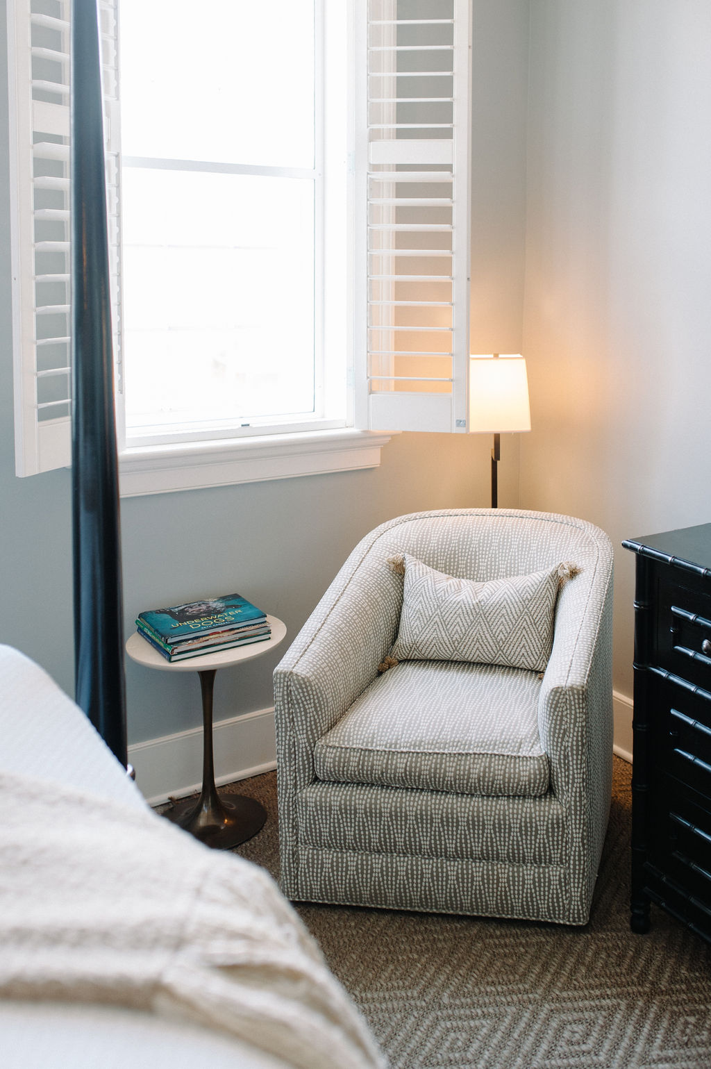 Comfortable sitting chair next to window in Room 10