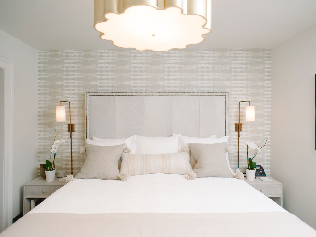 inviting bed in room 20